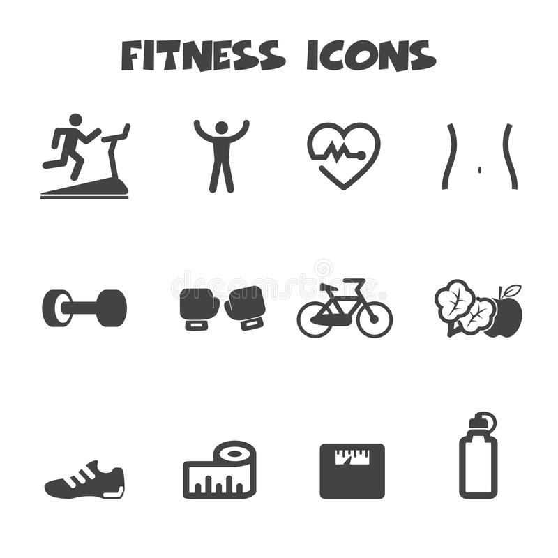 Download Fitness icons stock vector. Image of drink, boxing, fitness - 41399872