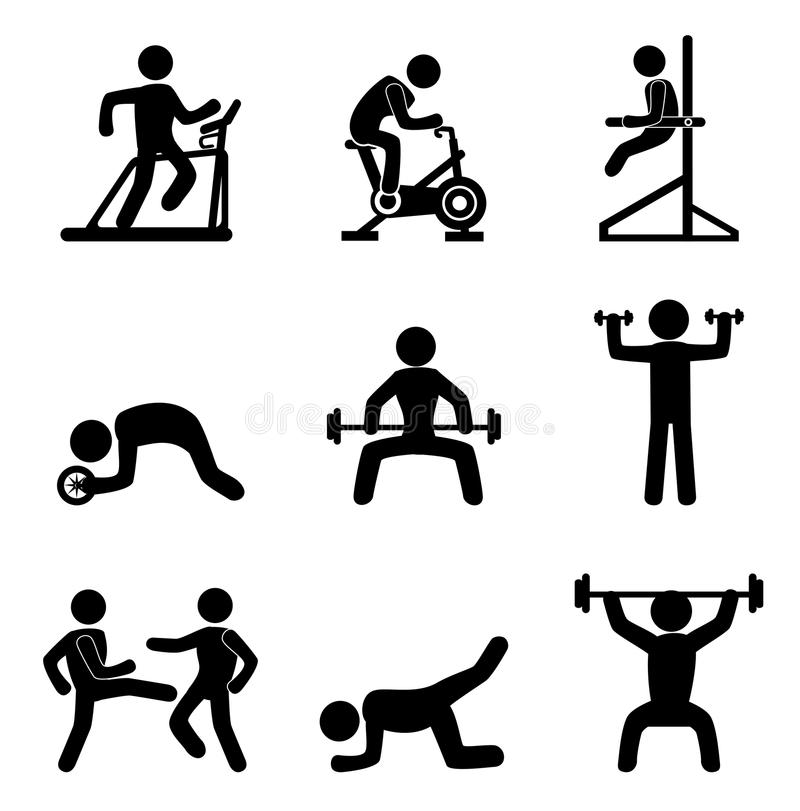 Download Fitness icons stock vector. Image of health, seal, image - 33801033