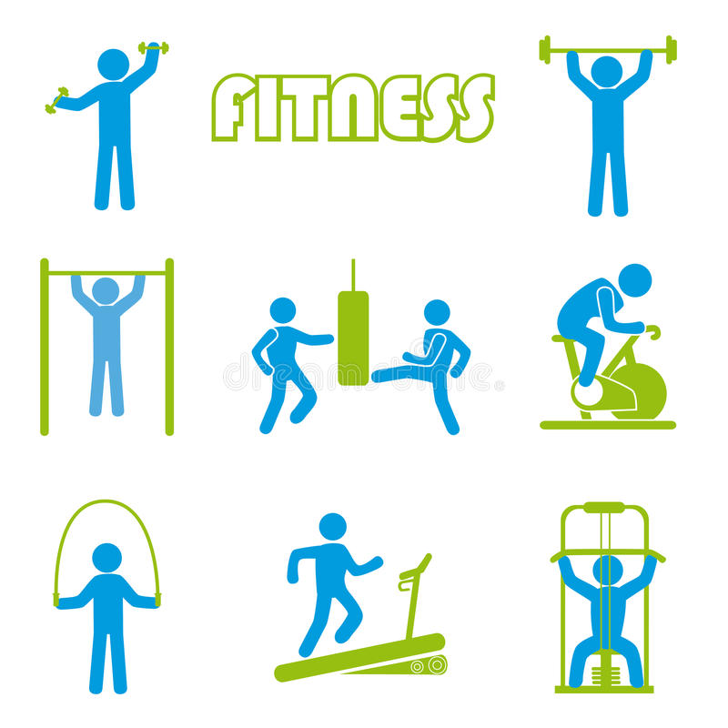 Fitness icons. Over white background vector illustration vector illustration