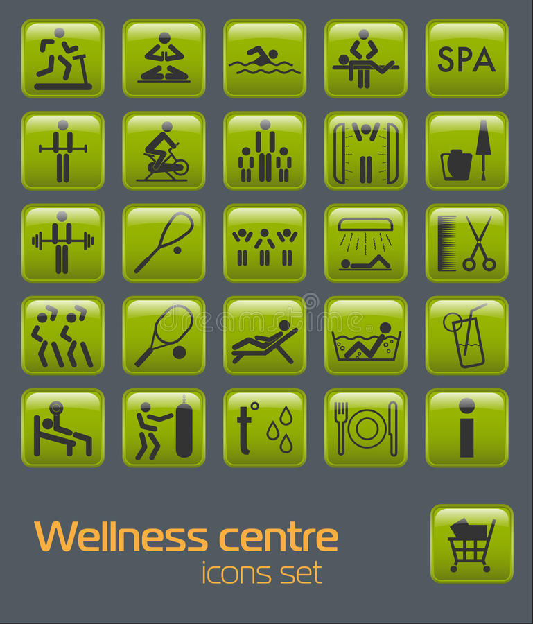 Download Fitness icons set stock vector. Image of hairdresser - 21374081