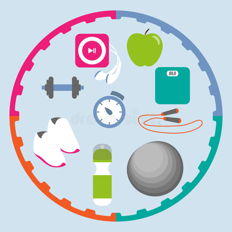 Download Fitness icons set stock vector. Illustration of loss - 40293492