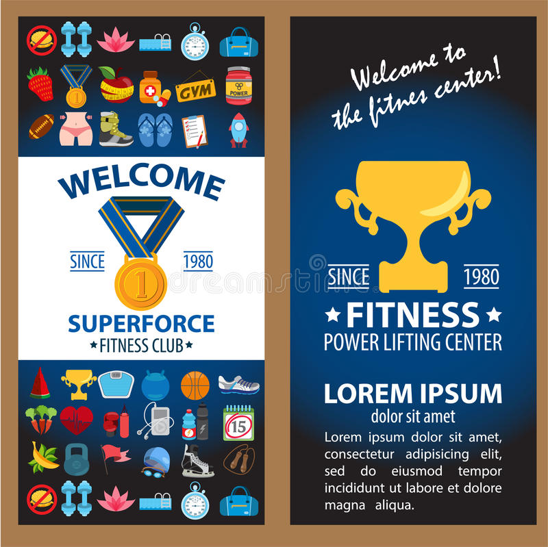 Fitness infographic royalty free stock photography