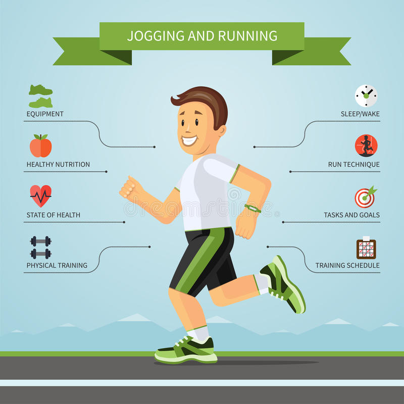 Fitness infographics concept. Vector illustration royalty free illustration