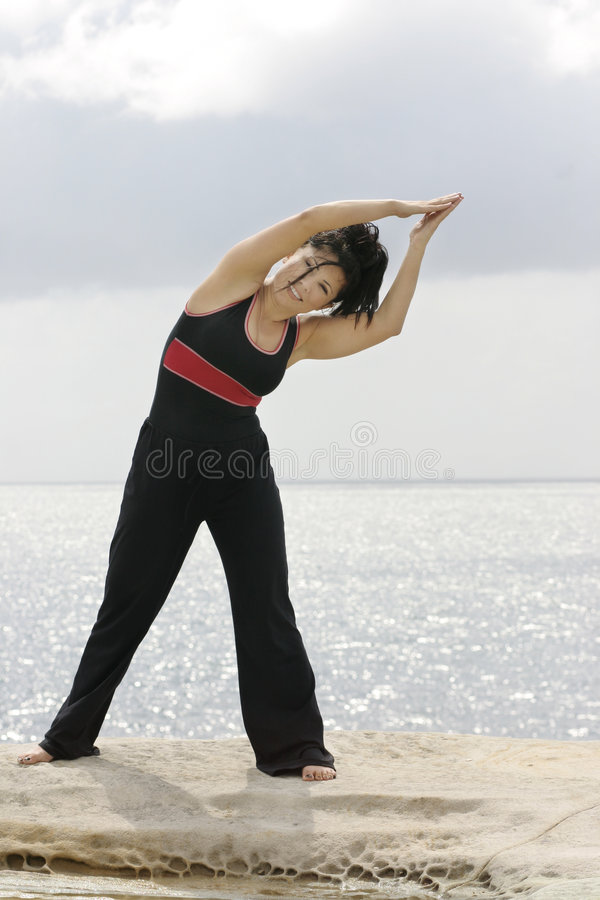 Fitness Instructor. Fitness is fun stock photos