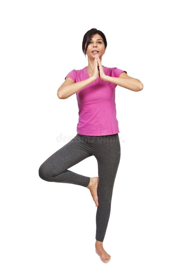 Fitness Instructor on balance stock photos