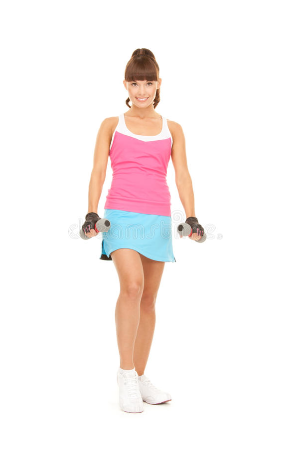 Download Fitness Instructor With Dumbbells Stock Image - Image: 40253865
