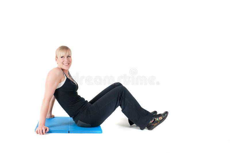 Download Fitness Instructor  Isolated On White Stock Photo - Image: 19338766