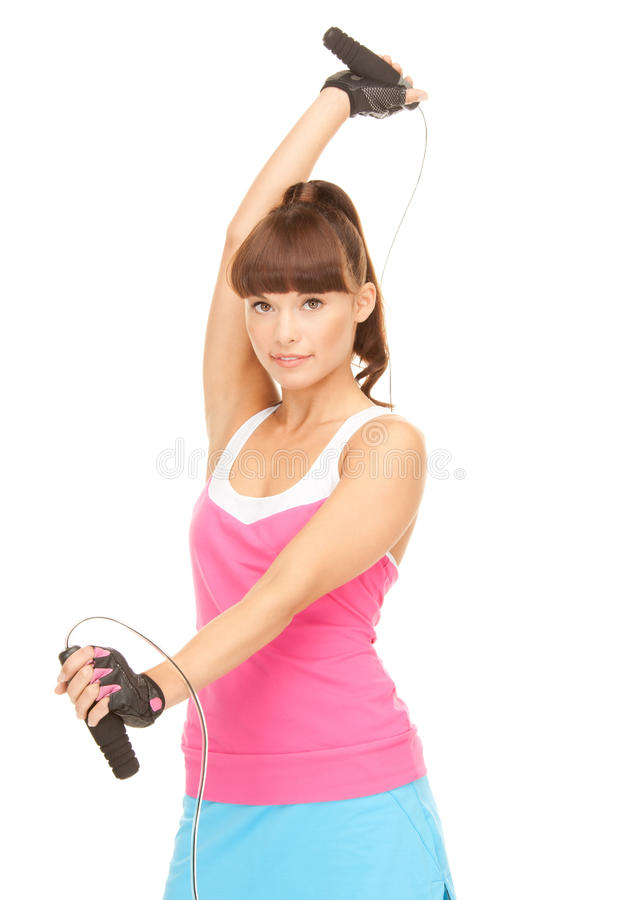 Download Fitness Instructor With Jump Rope Stock Photo - Image: 40253852