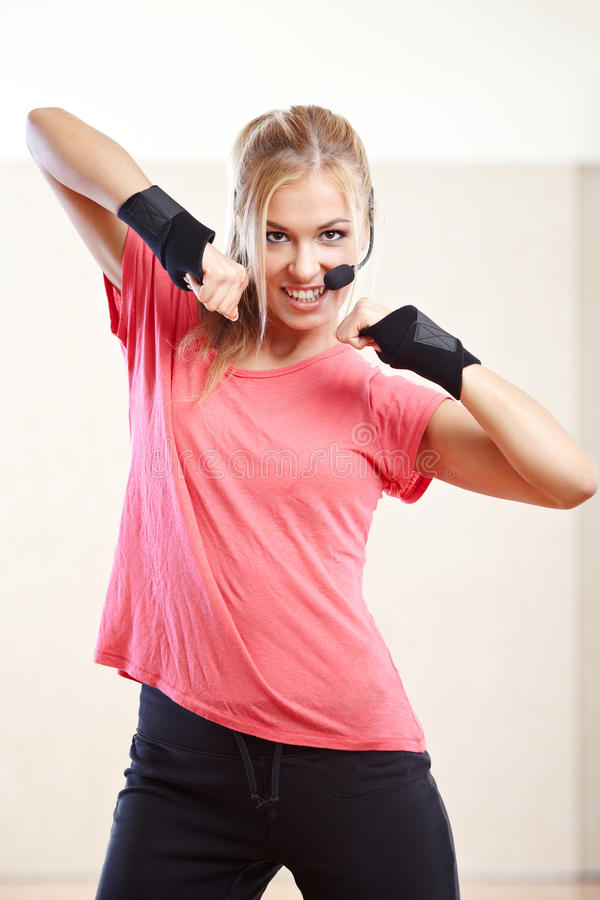 Download Fitness instructor stock image. Image of energy, exercise - 34044099