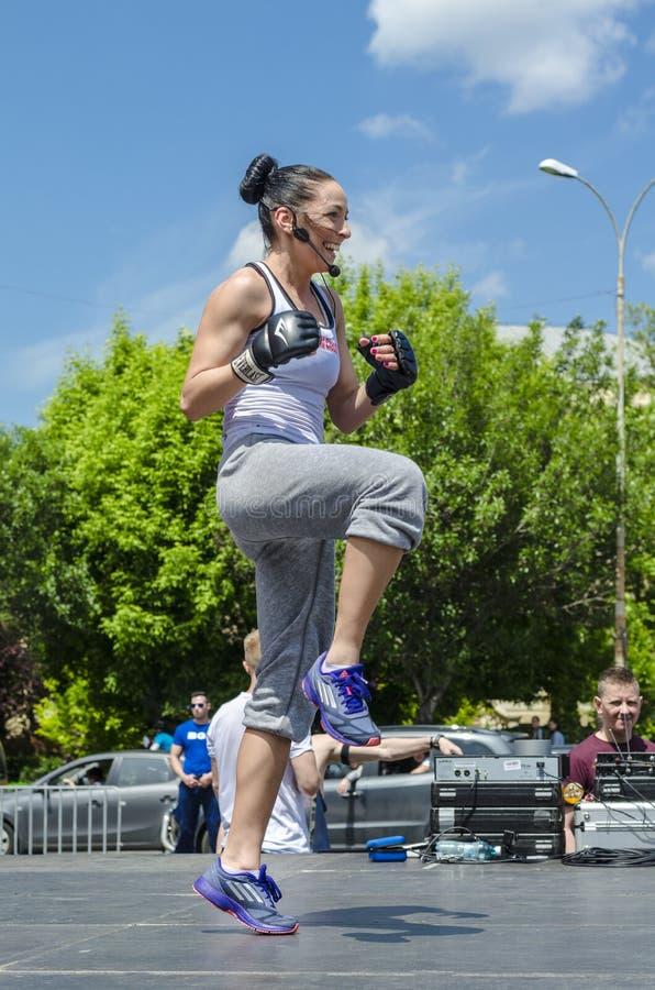 Fitness instructor stock photos