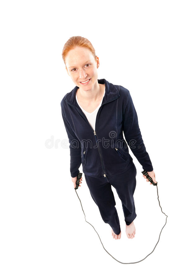 Fitness With Jumping Rope Stock Photo