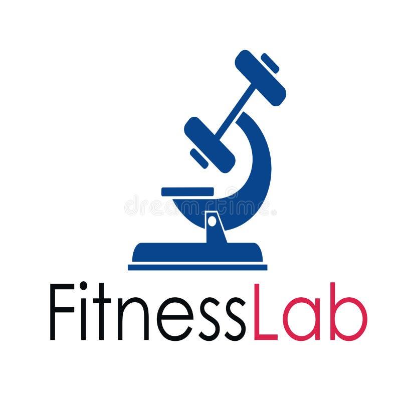 Fitness lab logo design. Fitness lab icon vector illustration
