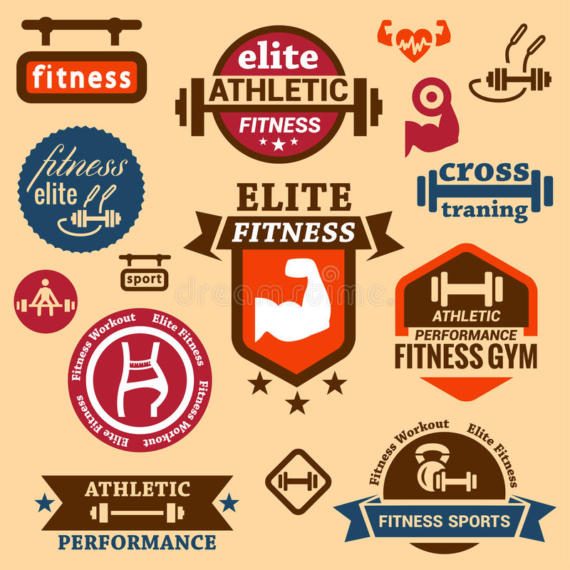 Fitness labels royalty free stock photos