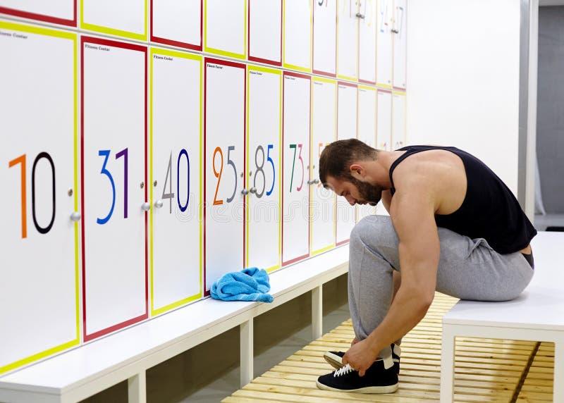 Fitness locker room stock photo image