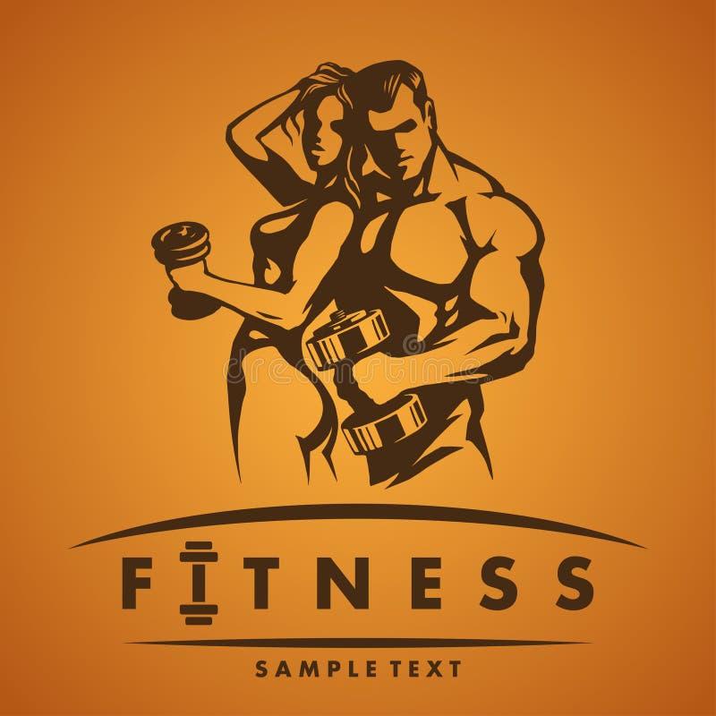 Fitness logo. Illustration in vector vector illustration
