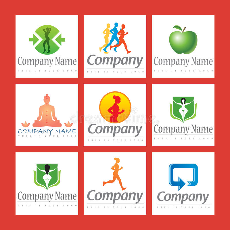 Download Fitness Logos Stock Photos - Image: 13941923