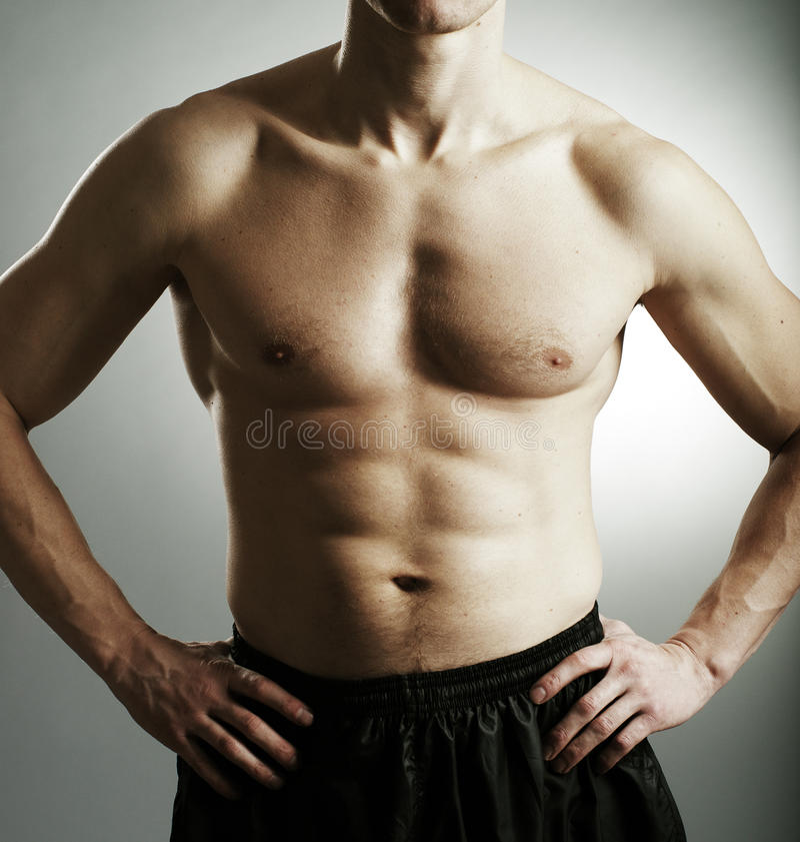 Fitness man body royalty free stock photos