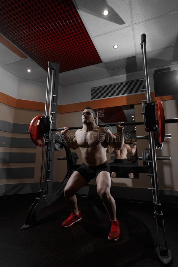 Fitness man in the gym. stock image