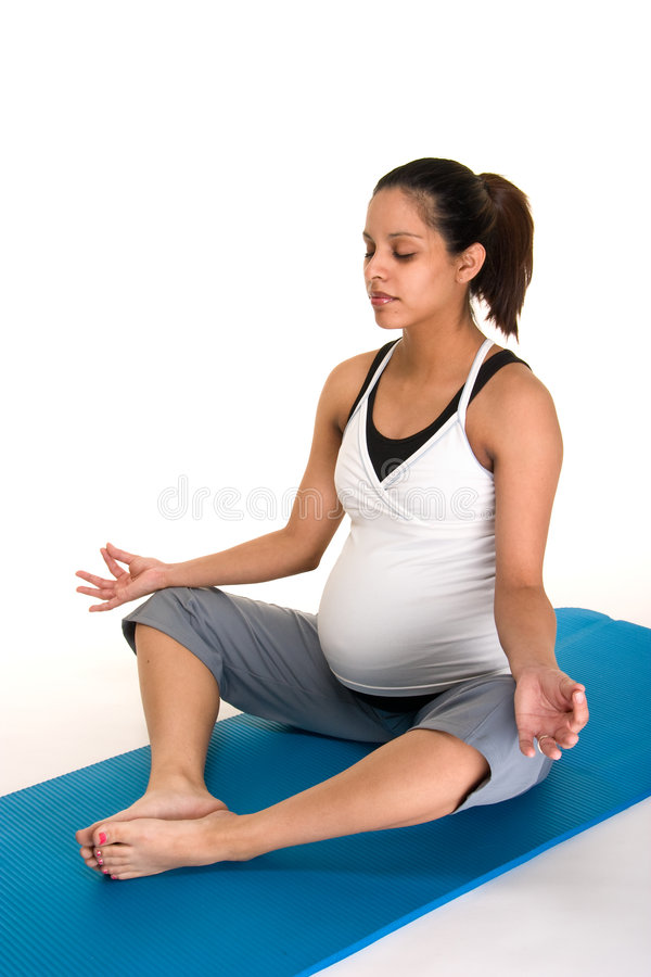 fitness medytacji pregancy fizycznej obrazy royalty free