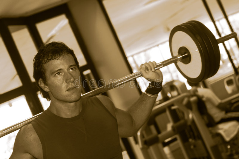 Download Fitness Men With Yoke stock image. Image of isolated, light - 3182309