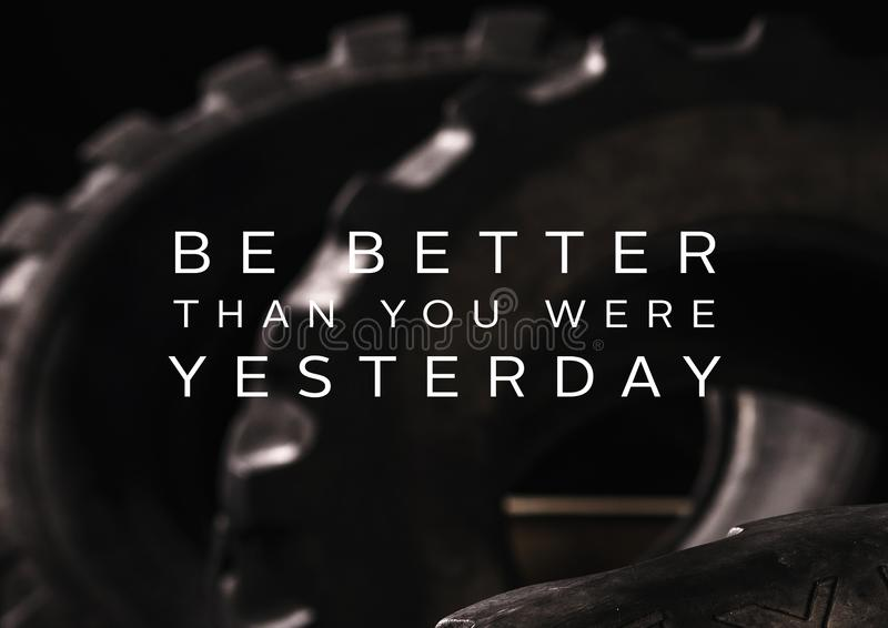 Fitness motivation quote for your better workout stock images