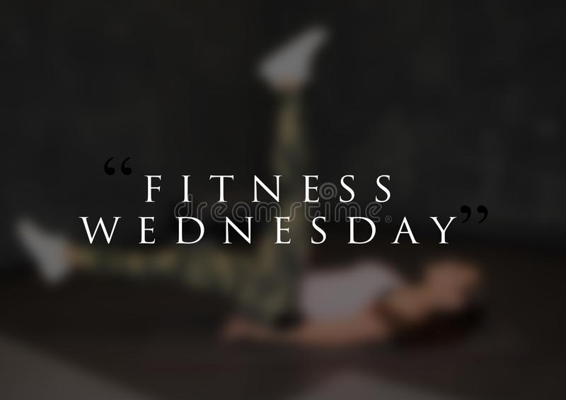 Fitness motivation quote for your better workout royalty free stock image