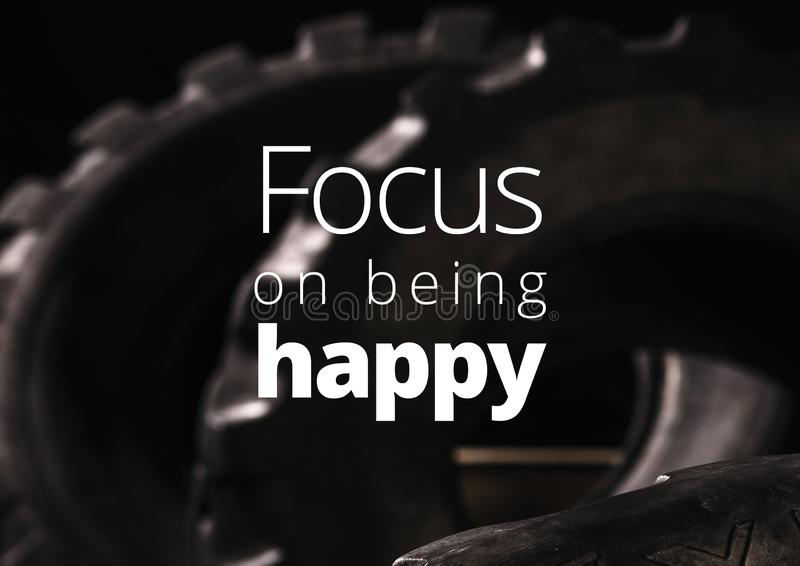 Fitness motivation quote for your better workout stock image