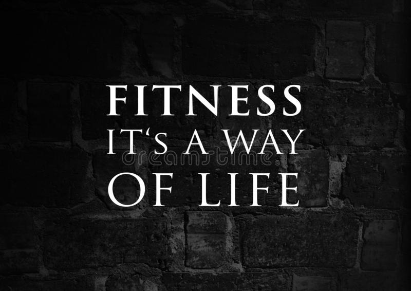 Fitness motivation quote for your better workout stock photos