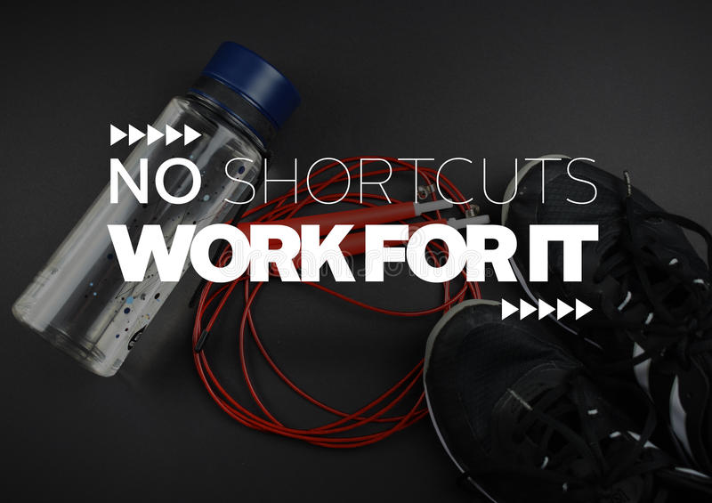 Fitness motivation quotes stock image
