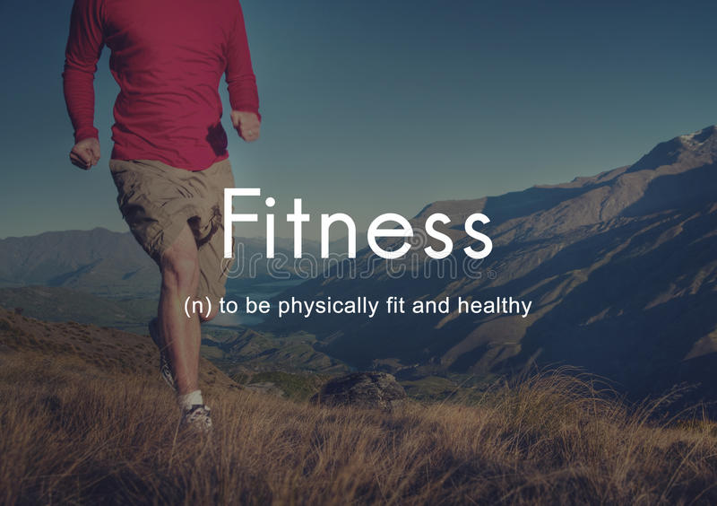 Fitness Outdoors Exercise People Graphic Concept stock images