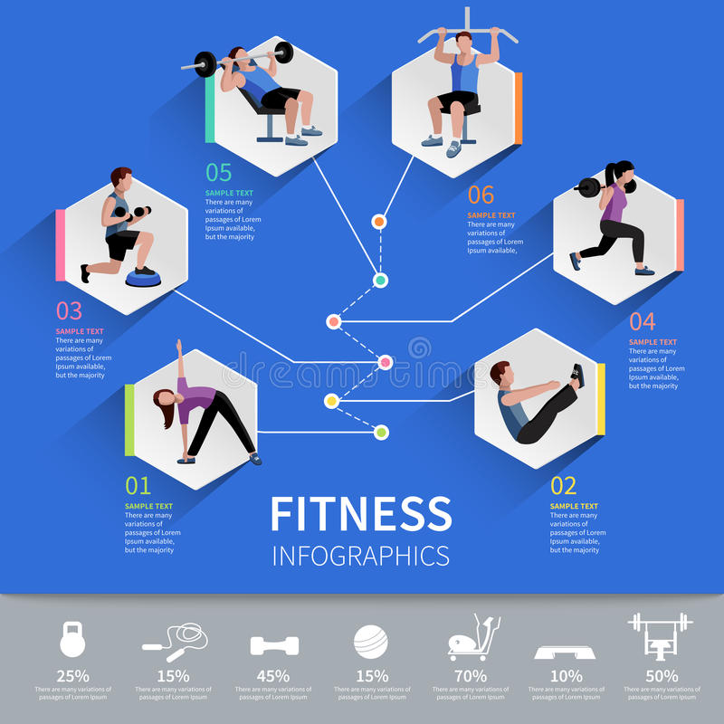 Free Fitness People Infographic Presentation Design Royalty Free Stock Photo - 57022445