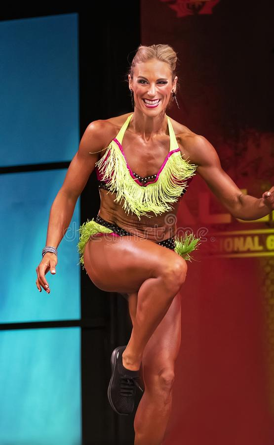 Fitness Performer at 2019 Toronto Pro Supershow royalty free stock photo