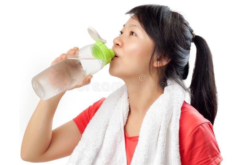 fitness pić wody fizycznej kobiet zdjęcie stock