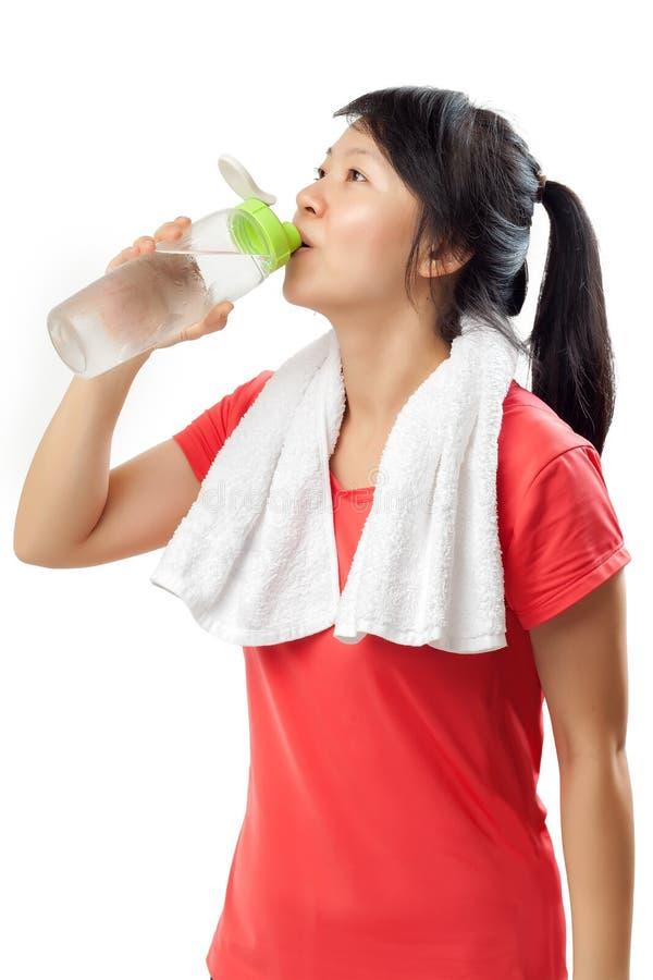 fitness pić wody fizycznej kobiet obraz royalty free