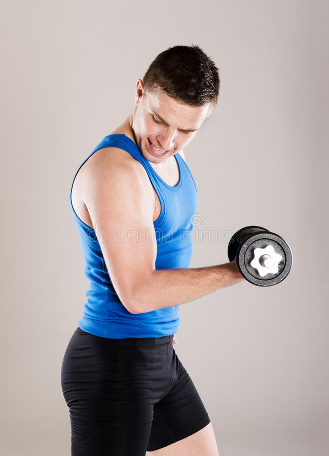 Download Fitness portrait stock photo. Image of workout, dumbbell - 34988468