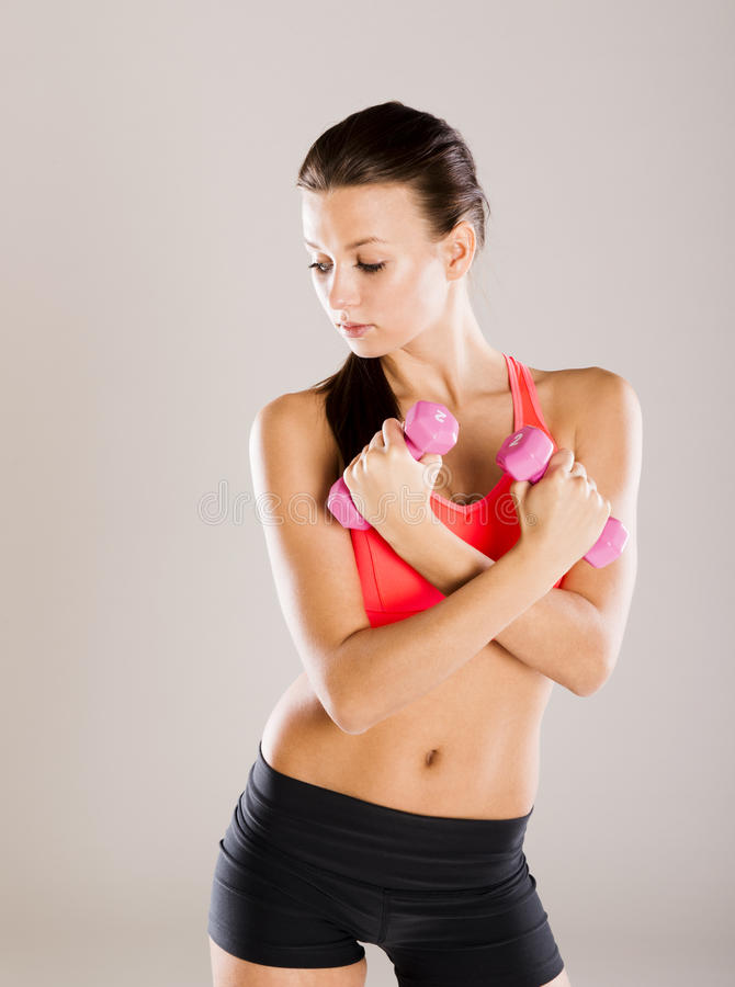 Download Fitness portrait stock image. Image of exercise, sport - 34988395