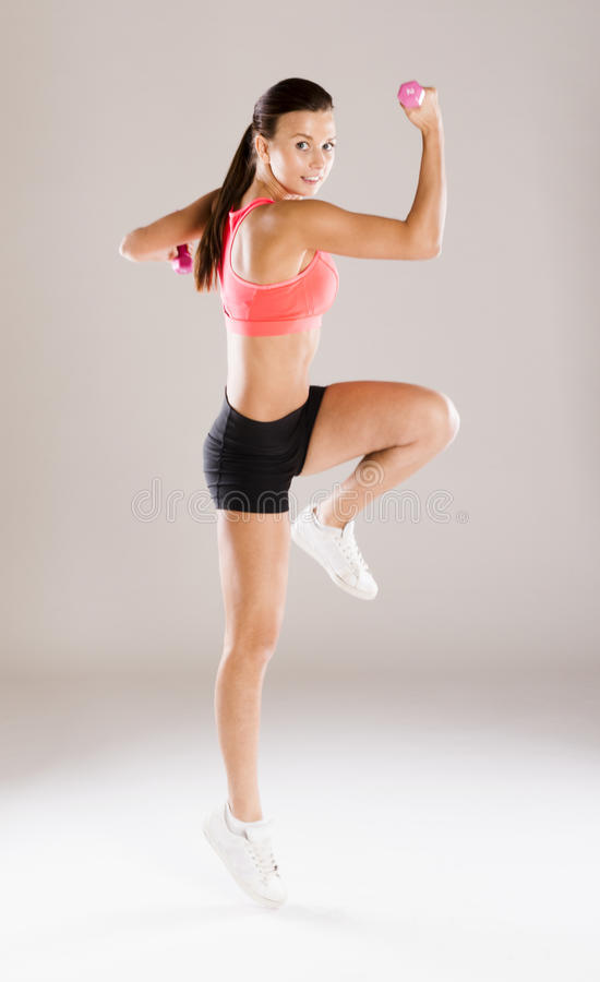 Download Fitness portrait stock photo. Image of exercise, studio - 34988422