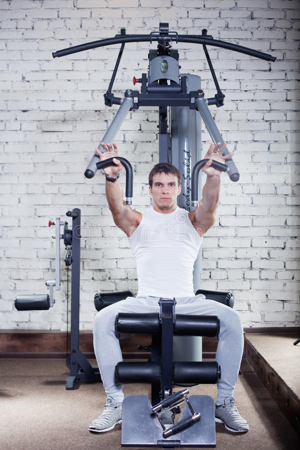 Download Fitness - Powerful Muscular Man Stock Image - Image: 26786975