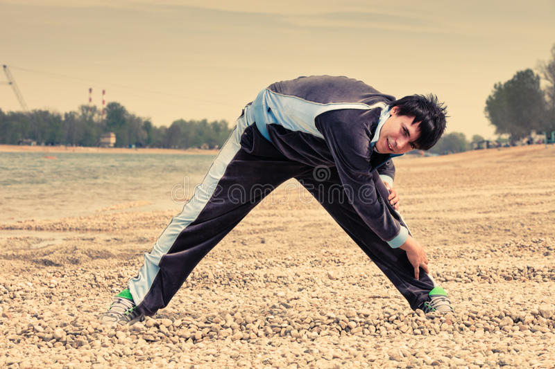 Download Fitness by the river stock image. Image of leisure, male - 24342999