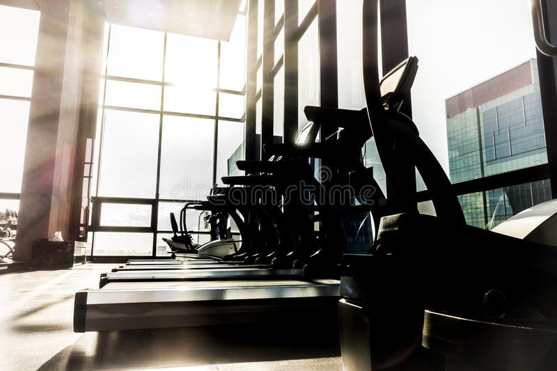 Fitness room royalty free stock photography