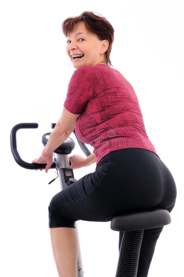 Fitness senior person isolated stock photography