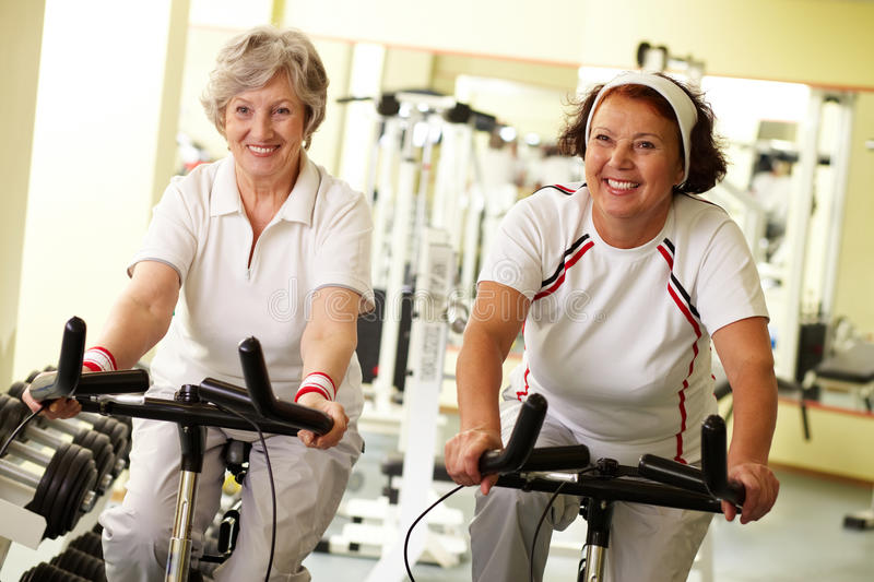 Fitness for seniors royalty free stock photos