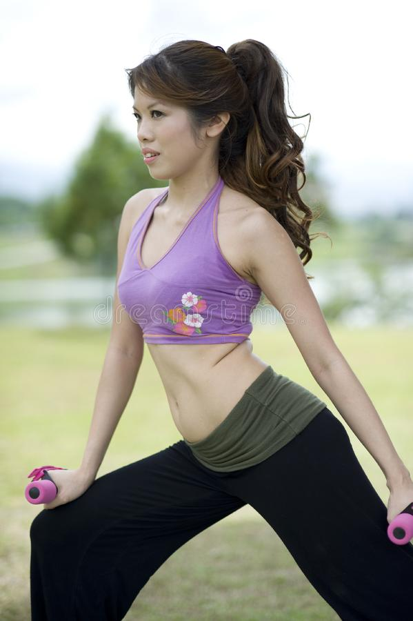 Download Fitness Series Resistance Training Stock Image - Image of beautiful, asian: 9309117