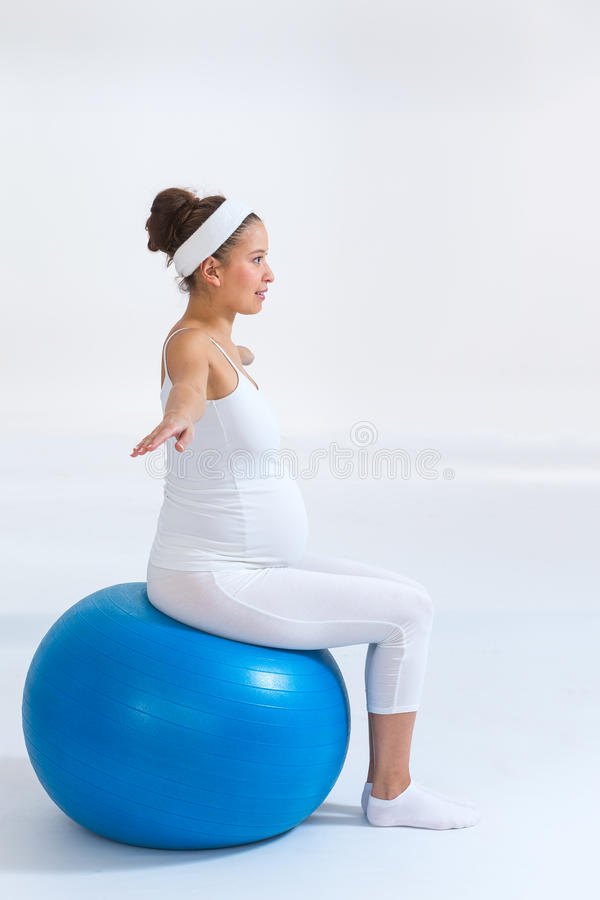 Fitness, sport and lifestyle concept for pregnant women royalty free stock photos