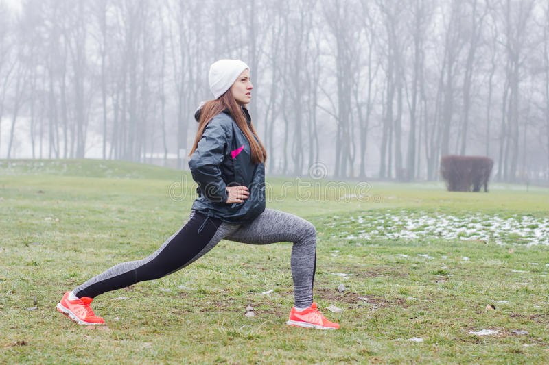 Fitness Sporty Woman Outdoor stock photography