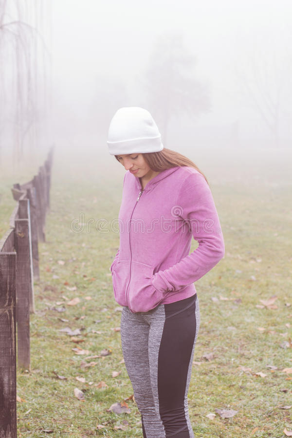 Fitness Sporty Woman Outdoor royalty free stock photo
