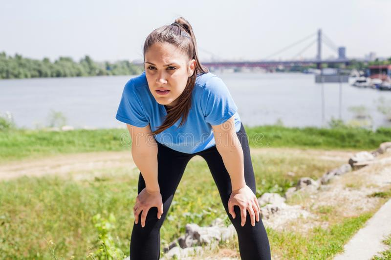 Fitness Sporty Young Woman royalty free stock photos