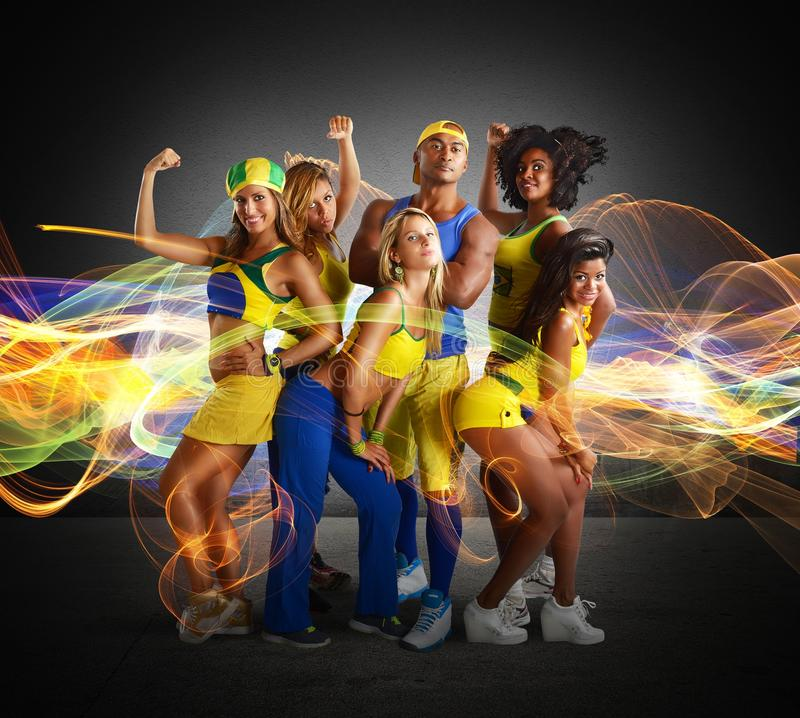 Fitness team royalty free stock photography