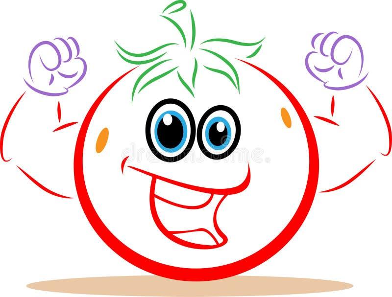 Fitness tomato vector illustration