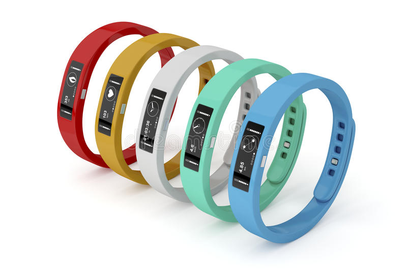 Fitness trackers vector illustration